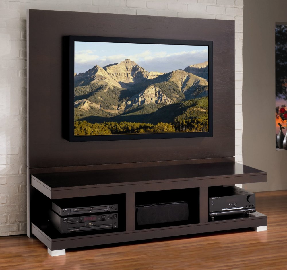 Widescreen tv stand woodworking plans woodideas for Wall mounted tv cabinet design ideas